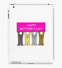 Happy Mother's Day Cute Dogs iPad Case/Skin