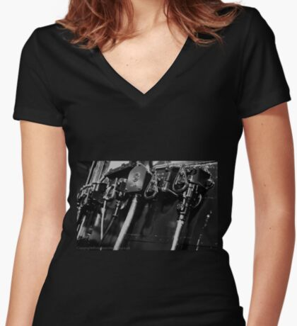 Switches and controls  Women's Fitted V-Neck T-Shirt