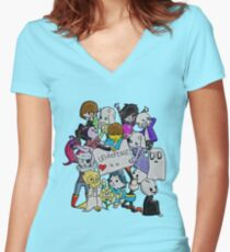 undertale XX Women's Fitted V-Neck T-Shirt