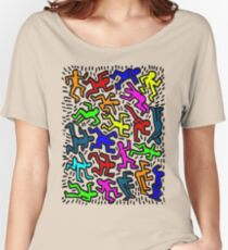wall collour keith haring Women's Relaxed Fit T-Shirt