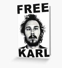 Free Karl - Workaholics Greeting Card