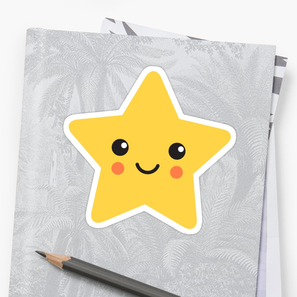 Quot Cute Kawaii Star Quot Stickers By Mheadesign Redbubble