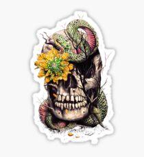 Snake and Skull Sticker