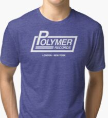POLYMER RECORDS SPINAL UNOFFICIAL TAP Tri-blend T-Shirt