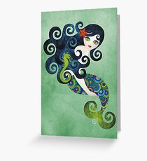 Aquamarine, the Teenage Mermaid Greeting Card