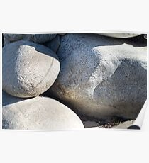 Large round boulders close-up  Poster