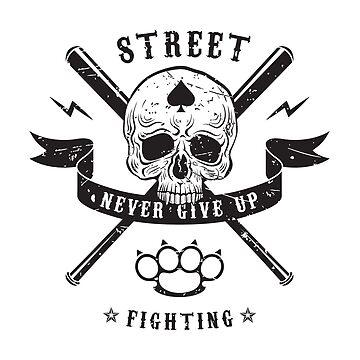 Street fighting emblem by valerisi