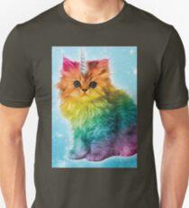 Unicorn Rainbow Cat Kitten T-Shirt