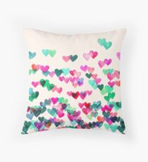 Heart Connections II - watercolor painting (color variation) Throw Pillow