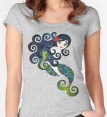 Aquamarine Mermaid Women's Fitted Scoop T-Shirt