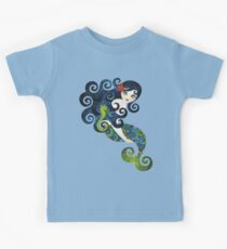 Aquamarine Mermaid Kids Tee