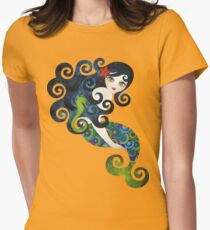 Aquamarine Mermaid Womens Fitted T-Shirt