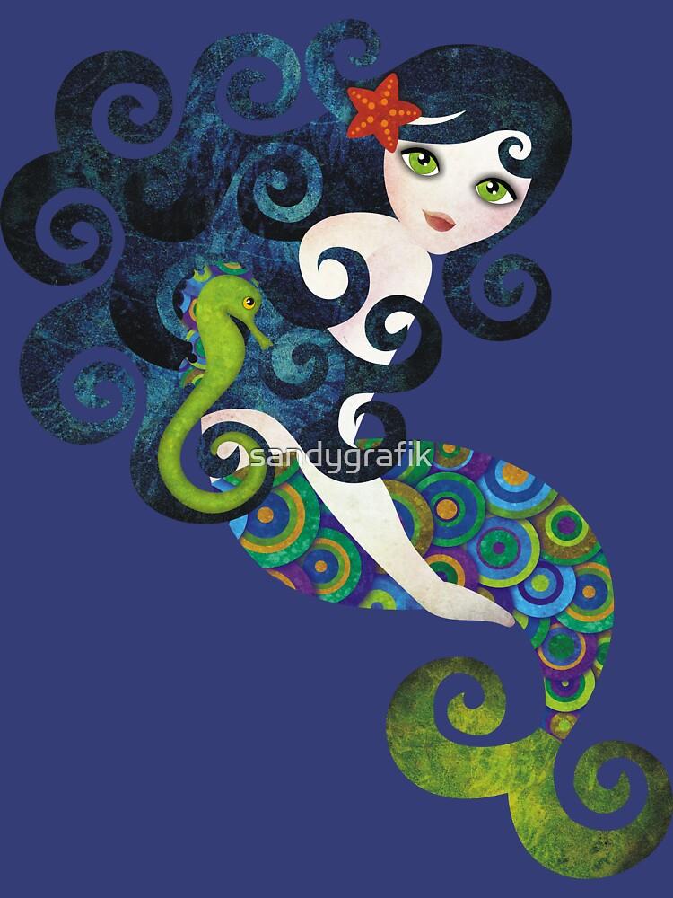 Aquamarine Mermaid von sandygrafik