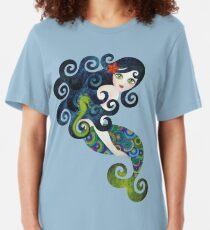 Aquamarine Mermaid Slim Fit T-Shirt