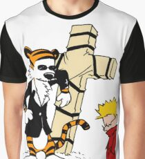 Calvin And Hobbes : Detective Graphic T-Shirt