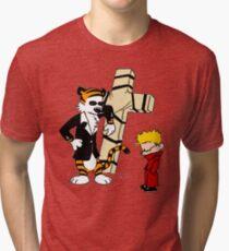 Calvin And Hobbes : Detective Tri-blend T-Shirt