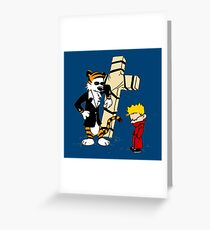 Calvin And Hobbes : Detective Greeting Card