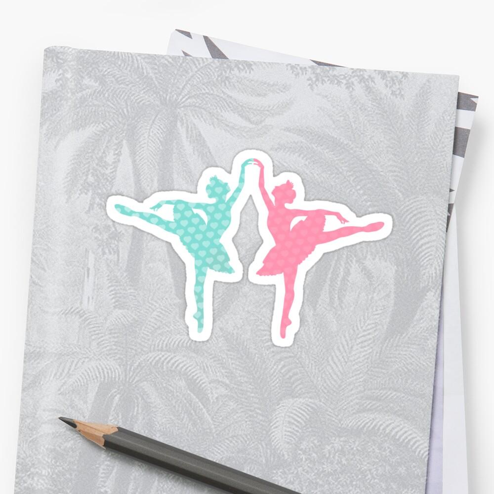 Pastel Ballerinas Pattern by XOOXOO