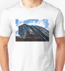 Color Matching Old and New - Downtown Toronto Juxtaposition Left Unisex T-Shirt
