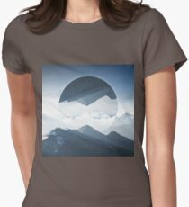 High mountain in morning time Womens Fitted T-Shirt