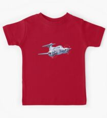 Cartoon Civil utility airplane Kids Tee