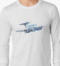 Cartoon Civil utility airplane Long Sleeve T-Shirt