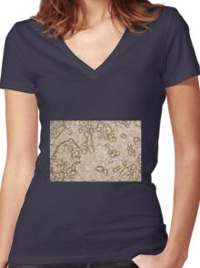 D60 / Nikkor 55mm - 12 Women's Fitted V-Neck T-Shirt