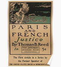 Artist Posters Paris and French justice by Thomas B Reed in the Saturday Evening Post 0991 Poster