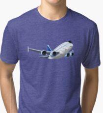 Cartoon Airliner Tri-blend T-Shirt