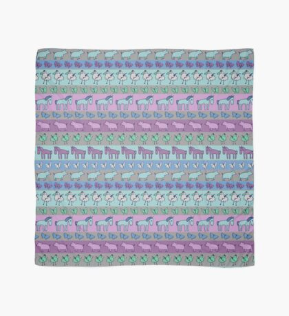 Strolling Striped Pigs and Ponies - Winter - pretty pattern by Cecca Designs Scarf