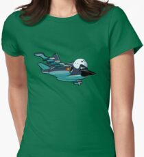 Cartoon Jetbird Womens Fitted T-Shirt