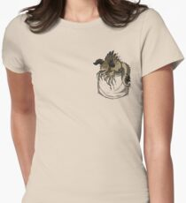 Pocket Deathclaw Women's Fitted T-Shirt