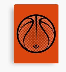 Vector Basketball Canvas Print