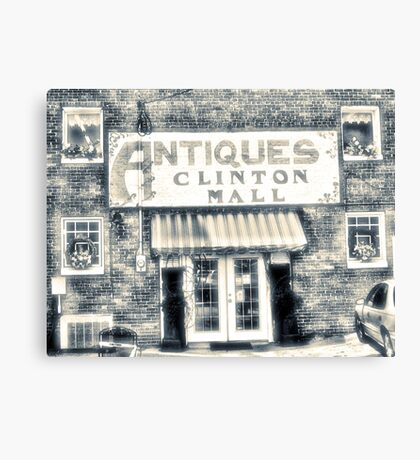 """""""Antiques... Clinton Mall, #4""""... prints and products Canvas Print"""