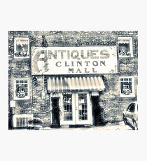 """Antiques... Clinton Mall, #4""... prints and products Photographic Print"