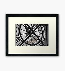 D'Orsay Clock Paris Framed Print