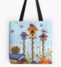 Trio of Birdhouses Tote Bag
