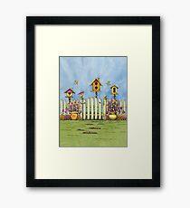 Trio of Birdhouses Framed Print