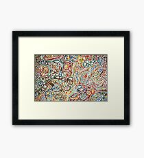 Swirls of Happiness Framed Print
