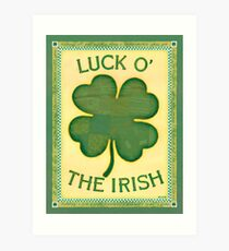 Luck O' the Irish Art Print