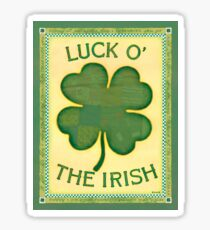 Luck O' the Irish Sticker