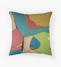 Nurturing - Abstract Art Throw Pillow