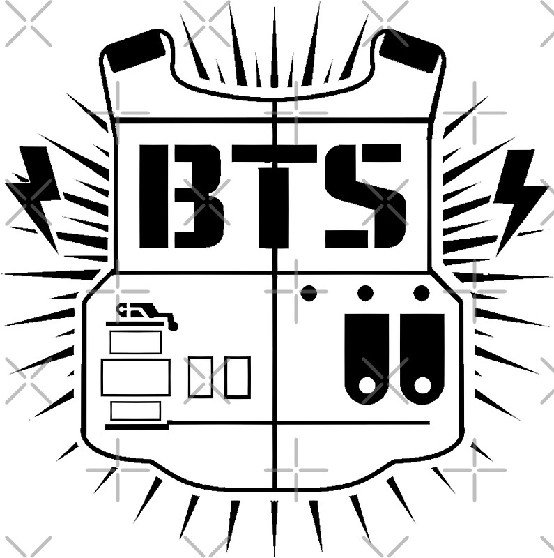 Quot Bts Army Black Quot Stickers By Chloeneko Redbubble
