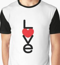 Love (05 - Black & Red on White) Graphic T-Shirt
