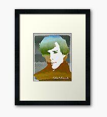 BBC Sherlock Holmes Watercolor Art Framed Print