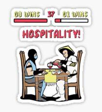Mortal Hospitality Kombat Sticker
