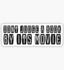 Books Movies Funny Clever humour Smart Joke Cool Sticker