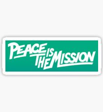 Peace Is The Mission Sticker