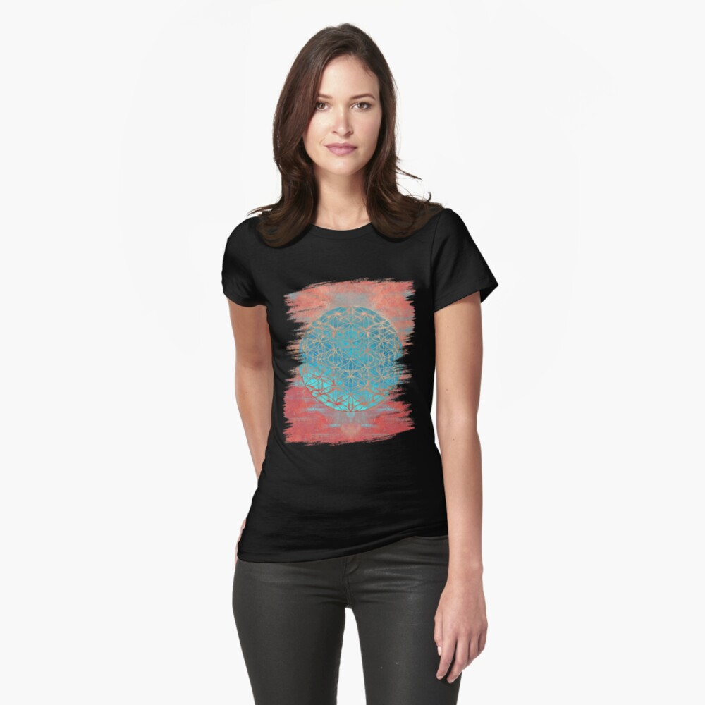 Flower of Life Fitted T-Shirt