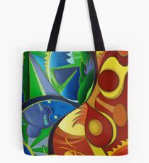 Color Chaos / Abstract Art - Colorful Tote Bag
